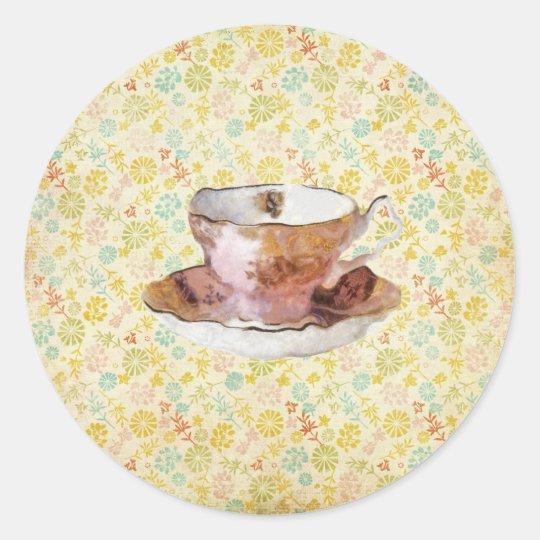 Have some tea...stickers classic round sticker