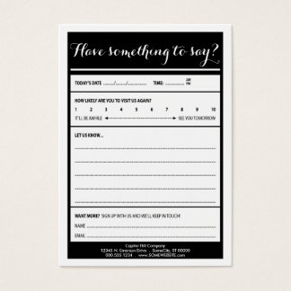 have something to say logo comment card