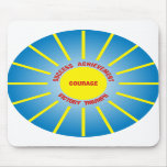 Have the courage to succeed mousepad