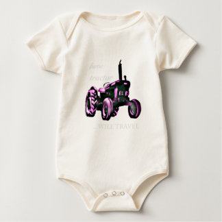 have tractor, will travel. baby bodysuit