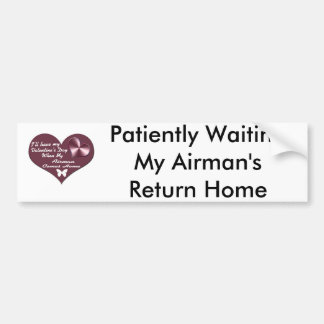 HAVE VAL DAY AIRMAN HOME BUMPER STICKER