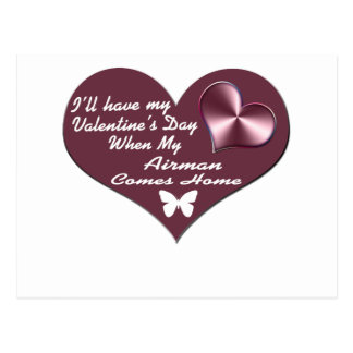 HAVE VAL DAY AIRMAN HOME POSTCARD