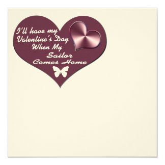 HAVE VAL DAY SAILOR HOME 5.25X5.25 SQUARE PAPER INVITATION CARD