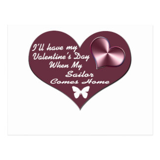 HAVE VAL DAY SAILOR HOME POSTCARD