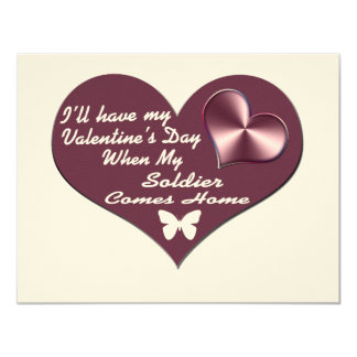 HAVE VAL DAY SOLDIER HOME 4.25X5.5 PAPER INVITATION CARD