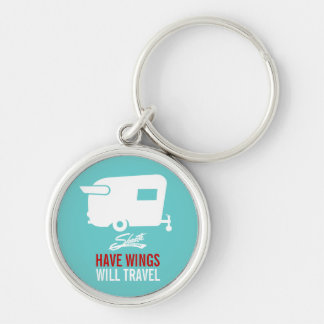 Have Wings Will Travel - Shasta Camping Keychain