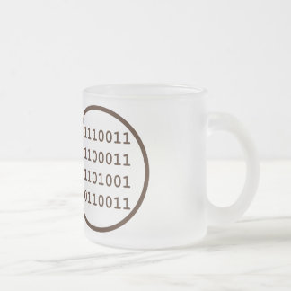 have written a program that operates in real time 10 oz frosted glass coffee mug