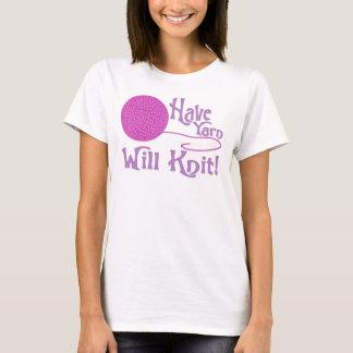 Have Yarn, Will Knit - Purple T-Shirt