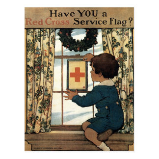 Have You a Red Cross Service Flag? Postcard