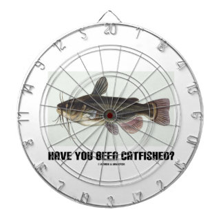 Have You Been Catfished? (Catfish Illustration) Dartboard With Darts