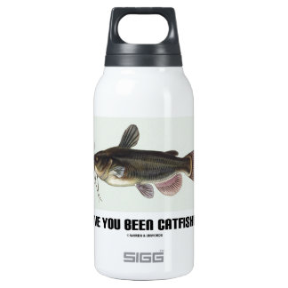 Have You Been Catfished? (Catfish Illustration) Insulated Water Bottle