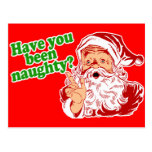 Have you been naughty? postcard