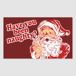 Have You Been Naughty Rectangular Sticker