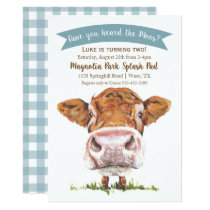 Have You Heard The Moos Cow Birthday Invitation