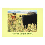 Have You Herd? Cattle Calves Western Party Shower 5x7 Paper Invitation Card