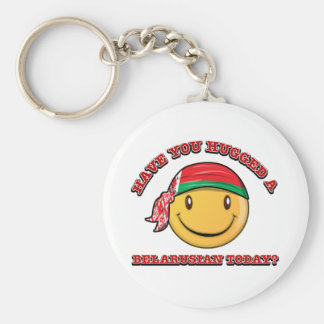 Have you hugged a Belarusian today? Basic Round Button Keychain