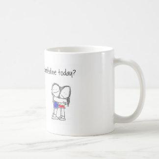 Have you hugged a borderline today? coffee mug