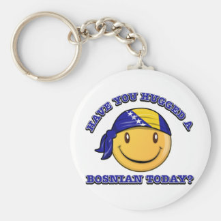 Have you hugged a Bosnian today? Basic Round Button Keychain