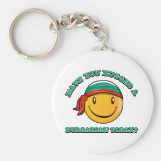 Have you hugged a Bulgarian today? Basic Round Button Keychain