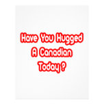 Have You Hugged A Canadian Today? Customized Letterhead