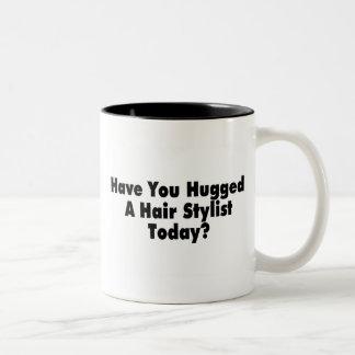 Have You Hugged A Hair Stylist Today Two-Tone Coffee Mug