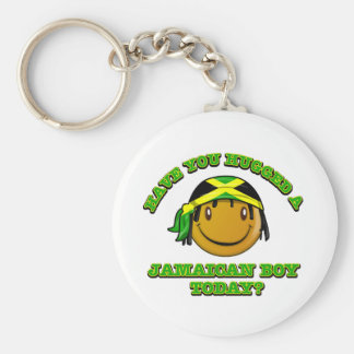 Have you hugged a Jamaican boy today? Basic Round Button Keychain