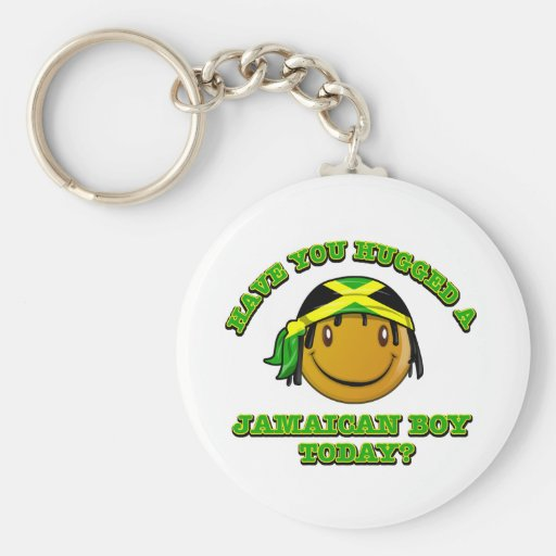 Have you hugged a Jamaican boy today? Keychain