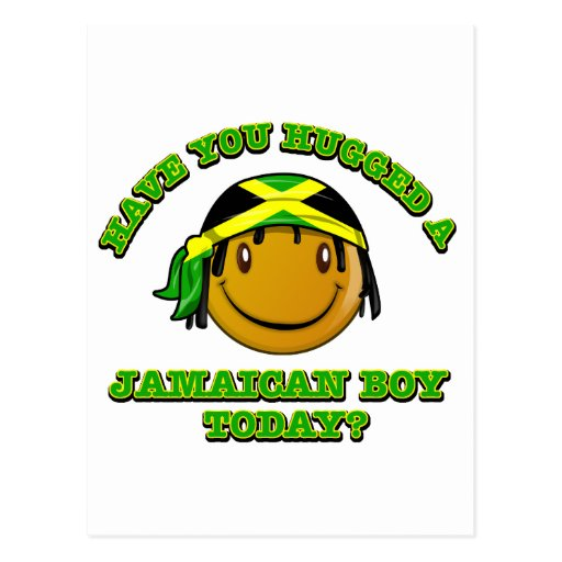 Have you hugged a Jamaican boy today? Postcard