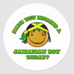 Have you hugged a Jamaican boy today? Classic Round Sticker