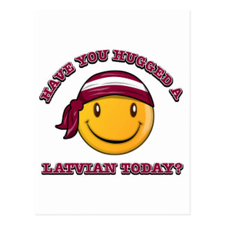 Have you hugged a Latvian today? Postcard