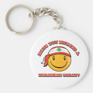 Have you hugged a Lebanese today? Basic Round Button Keychain