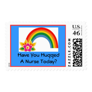 Have You Hugged A Nurse Today Postage Stamps