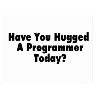 Have You Hugged A Programmer Today Postcard