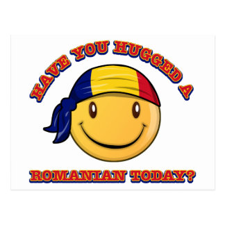 Have you hugged a Romanian today? Postcard