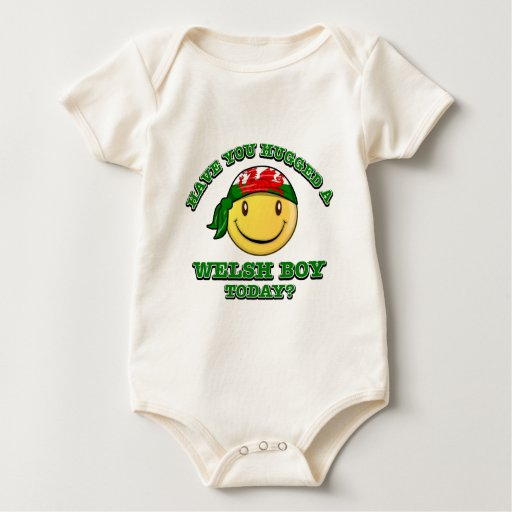 Have you hugged a Welsh boy today? Baby Bodysuits