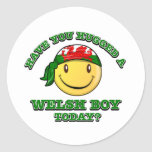 Have you hugged a Welsh boy today? Round Sticker