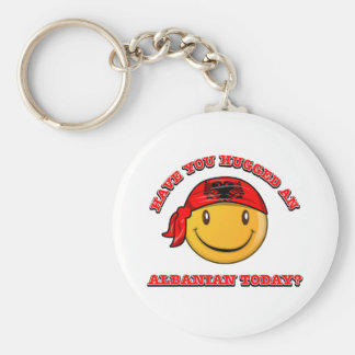 Have you hugged an Albanian today? Basic Round Button Keychain