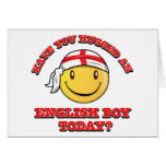 Have you hugged an English boy today? Greeting Cards