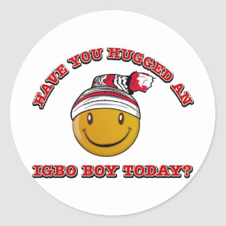 Have you hugged an Igbo boy today? Round Sticker