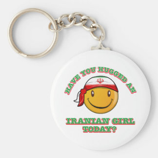 Have you hugged an Iranian girl today? Basic Round Button Keychain