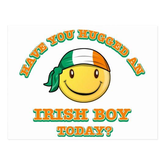 Have you hugged an Irish boy today? Postcard