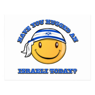 have you hugged an Israeli today? Postcard