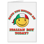 have you hugged an italian boy today? cards