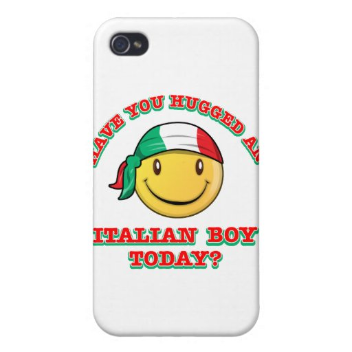 have you hugged an italian boy today? iPhone 4 covers
