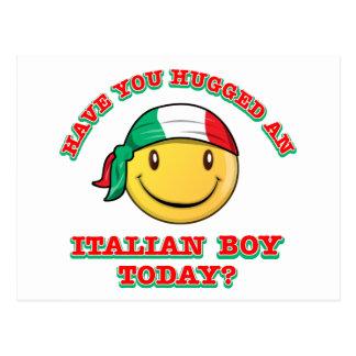 have you hugged an italian boy today? postcard