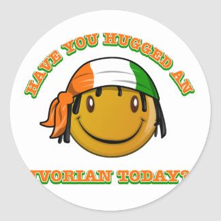Have you hugged an Ivorian today? Classic Round Sticker