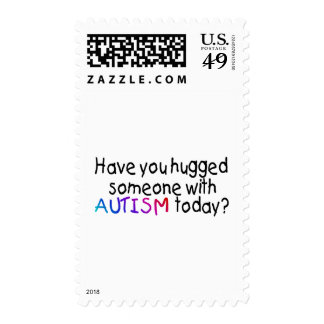 Have You Hugged Someone With Autism Today (Blk) Postage