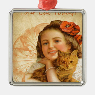 Have You Hugged Your Cat Today Metal Ornament