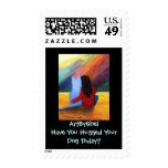 Have you hugged your dog today? postage stamp