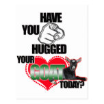 HAVE YOU HUGGED YOUR GOAT TODAY? POSTCARD